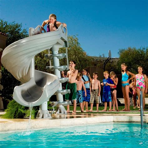 Water Slides For Backyard Pools by Backyard Pool Water Slide Backyard Design Ideas