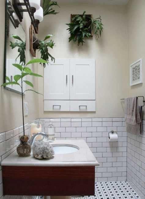 green ideas  modern bathroom decorating  plants