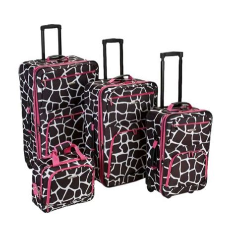 rockland luggage dots 4 piece luggage set multiple blue rockland luggage four piece luggage set luggage sets
