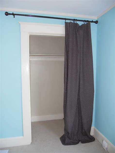closets with curtains for doors curtain instead of closet door home design ideas