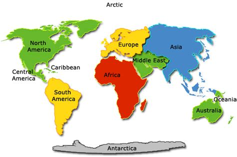 continent map with country names continents countries world atlas maps flags from e4eureka