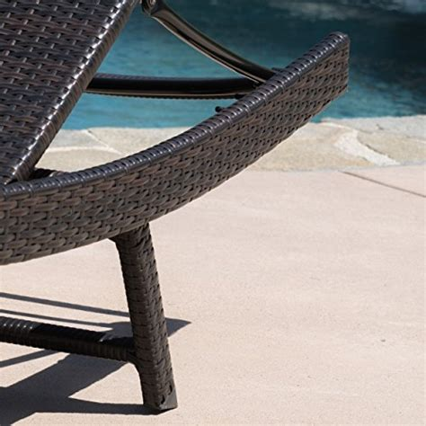 Eliana Set 2 eliana outdoor brown wicker chaise lounge chairs set of 2 chairs patio and furniture