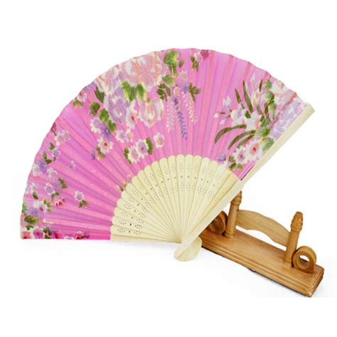 japanese silk fans flower japanese silk bamboo fan folding