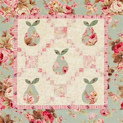 pastel quilt pattern pastel pears wall quilt allpeoplequilt com