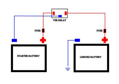 12v split charge relay wiring diagram 37 wiring diagram
