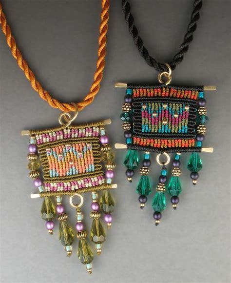 Cavandoli Macrame Patterns - colorfull cavandoli pendants macrame by joan babcock