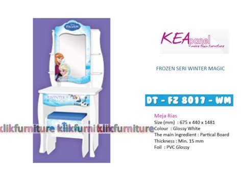 Meja Rias Luxurious Frozen meja rias frozen kea panel dt fz 8017 wm diskon promo