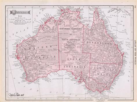 printable australia map hello australia knick of time