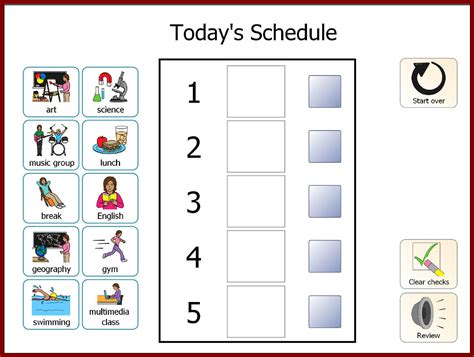 Visual Schedule Template Task List Templates Visual Schedule Template