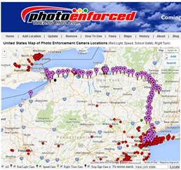 Ez Pass States Map by Photo Enforced Ny E Zpass Toll Road Camera Locations Map