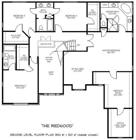 upstairs floor plans enchanting colonial style two story house plan redwood