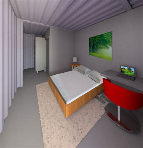 Open Living Space Floor Plans Shipping Container Village One Community Open Source