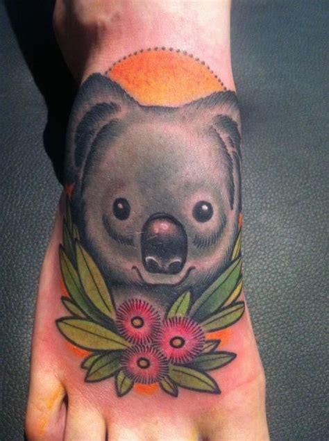 koala bear tattoo koala done by frenzel tattoos i like