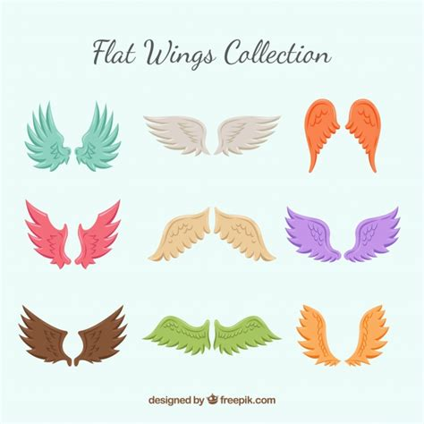 colored wings collection of colored wings vector free