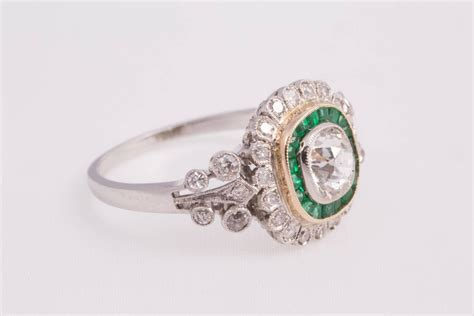 antique cushion cut emerald ring at 1stdibs