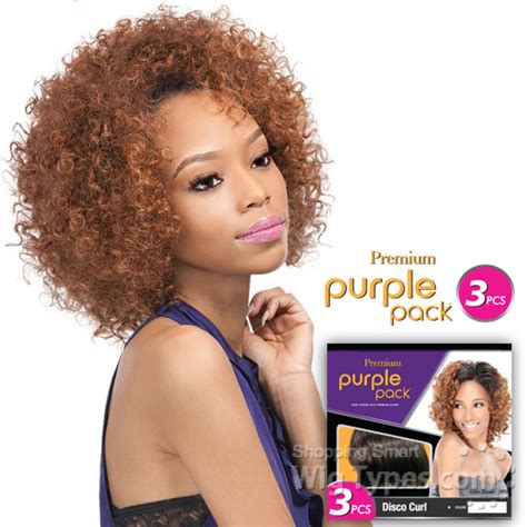 Way 18 Pieces Pack outre purple pack human hair blend weaving 3