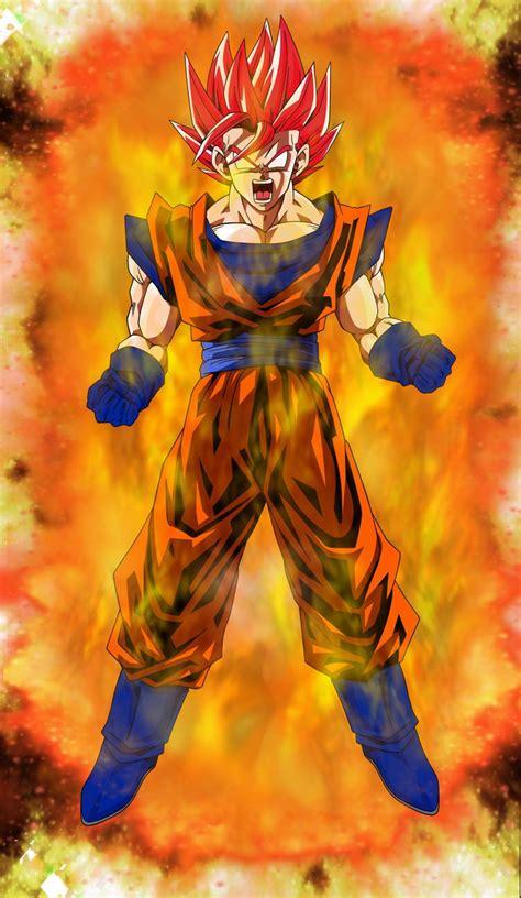 imagenes de goku kakaroto super saiyan god goku power up by elitesaiyanwarrior on