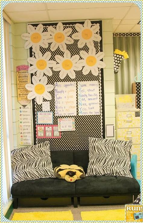 themed areas synonym black white and yellow classroom pictures classroom