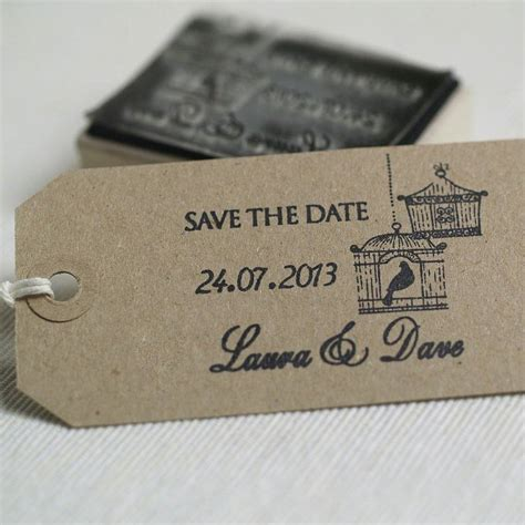 rubber st save the date personalised birdcages save the date st by beautiful