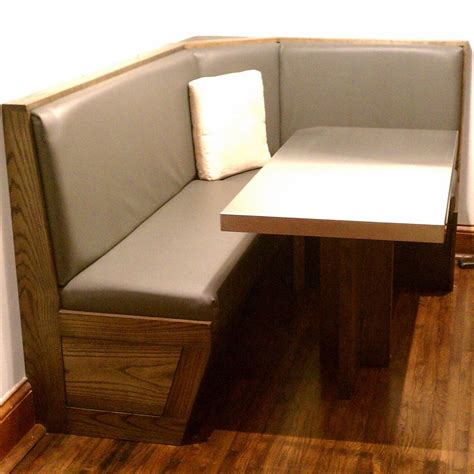 booth table for home custom built in booth and table by blue company inc