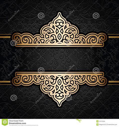 gold pattern black background vintage gold background stock vector illustration of