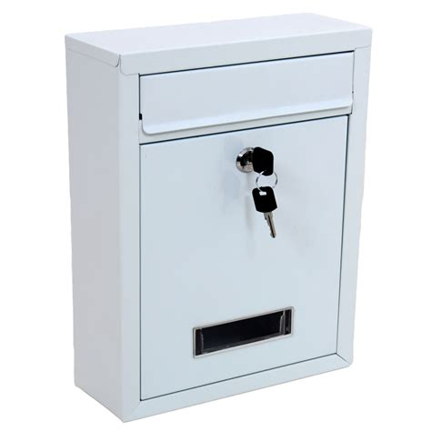 post mail boxes white wall mounted post letter mail box