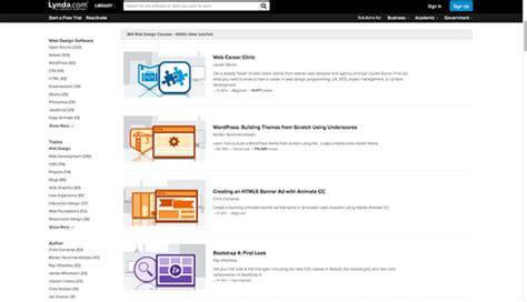 website tutorial lynda 33 prachtige webdesign inspiratie sites mediaweb