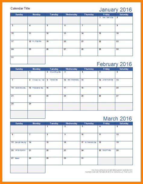 7 Quarterly 2017 Calendar Appeal Leter 2017 Quarterly Calendar Template