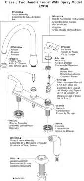Delta Two Handle Kitchen Faucet Repair Plumbingwarehouse Com Delta Kitchen Faucet Parts For