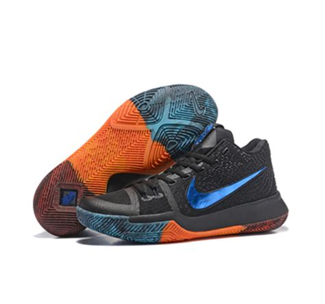 Kyrie 3 Black Orange nike kyrie irving shoes 3 blue black orange sale