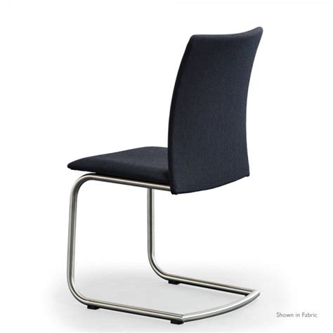 Leather And Steel Dining Chairs Skovby Sm53 Brushed Steel Dining Chair In Leather Available