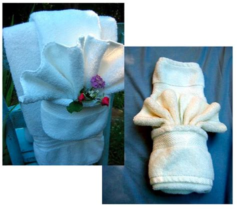 how to fancy towel folding curbly