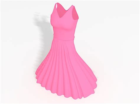 Ohome Pajangan 3d Poly In Pink Dress Decor Ev Sp 2119 pink prom dress 3d model 3ds max files free modeling 34278 on cadnav