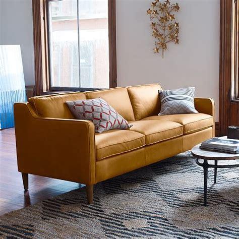 west elm dekalb sofa review west elm leather sofa reviews memsaheb net