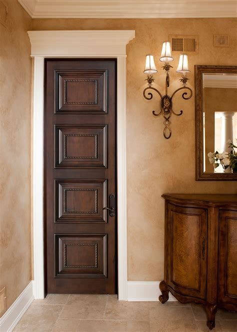 Handmade Interior Doors - interior door custom single solid wood with walnut