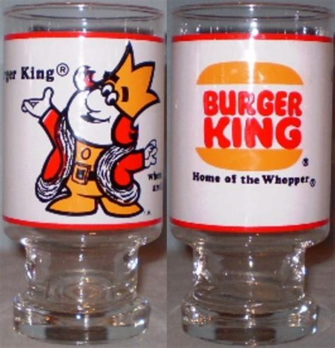 Backyard Burger King Nz Burger King Pedestal Glass Home Of The Whopper Promo Glasses
