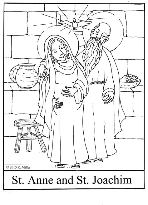 St Coloring Page and joachim 169 2015 r miller coloring page