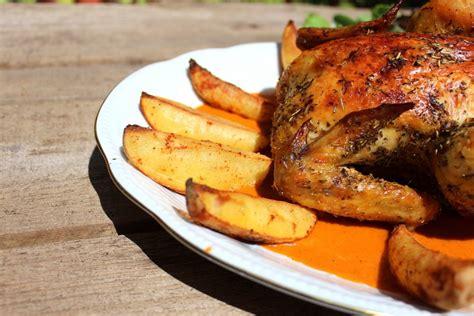 recetas de cocina horno pollo asado al horno con verduras y patatas una receta