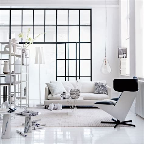 open shelving living room monochrome living room with open shelving unit and oversized lightbulb housetohome co uk