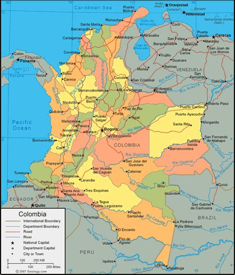 south america map republic the gringo about colombia
