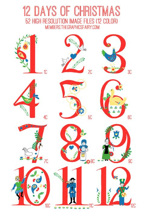 12 Days Of Printable Templates Image Search
