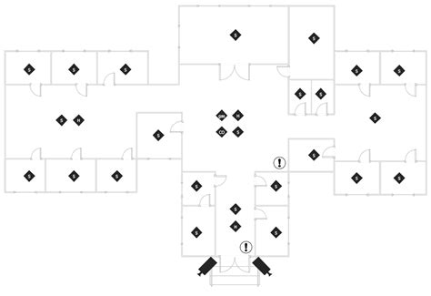 house plan with security layout security and access plans solution conceptdraw com