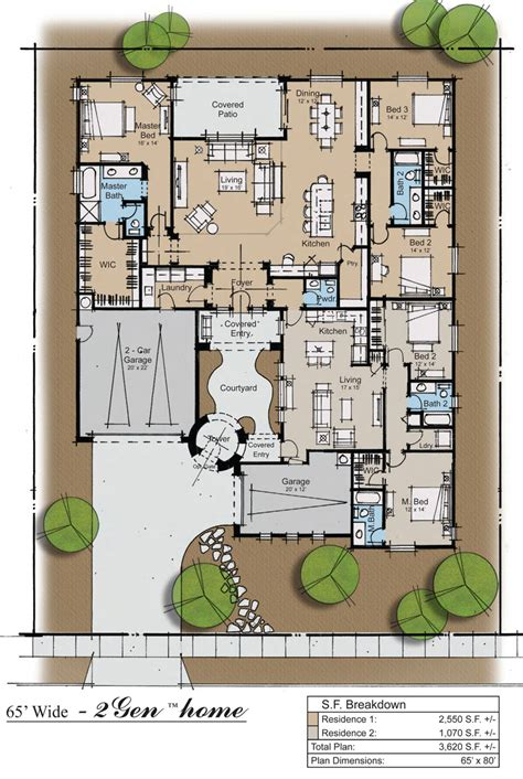 multi family house plans with courtyard chandler az