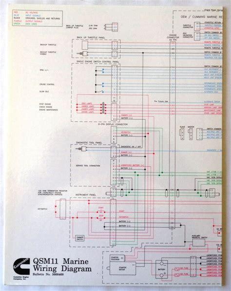 Cummins Laminated Qsm 11 Marine Wiring Diagram Ebay