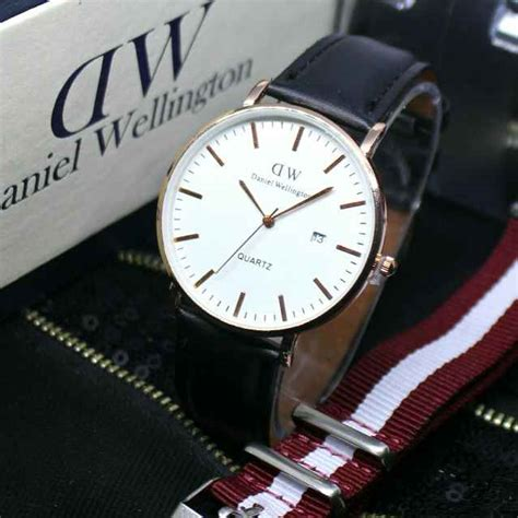 Jam Tangan Pria Dw Daniel Wellington Date On Leather jam tangan daniel wellington tanggal sing