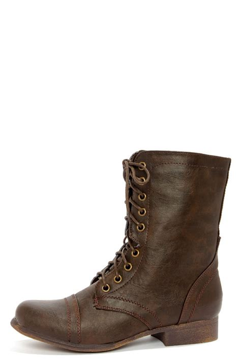 pretty boots brown combat boots www imgkid the image kid