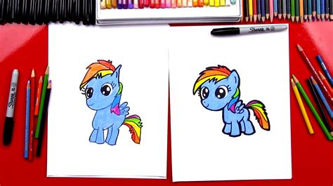 rainbow doodle drawing how to draw rainbow dash