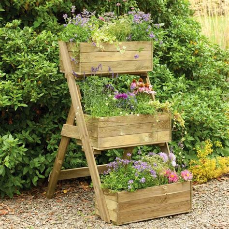 backyard planter designs diy vertical raised container planter box for small