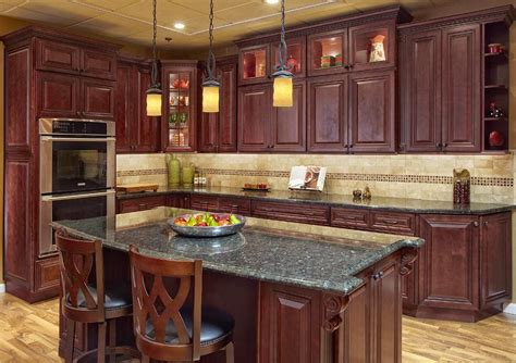 cherry kitchen ideas kitchen cabinet ideas cherry wood kitchen cabinets ideas