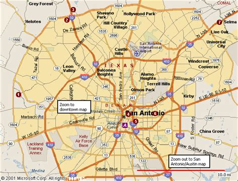 texas san antonio map san antonio map view